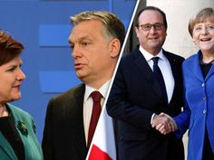 AS the future of the European Union (EU) hangs in the balance in the wake of Brexit, right and left-wing leaders are tearing the bloc apart over what direction the other 27 member states should take.