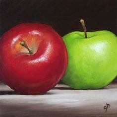 """Apples"" - Original Fine Art for Sale - © Jane Palmer"