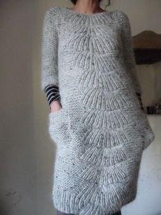 [손뜨개옷] 손뜨개 대바늘 원피스 : 네이버 블로그