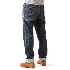 Old Man Fashion, Work Fashion, Denim Fashion, Fashion Details, Raw Denim, Work Pants, Casual Pants, Backpack, Menswear