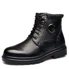Mens winter shoesLeather shoesMen and velvet padded business casual shoes high cotton father shoesA Foot length243CM96Inch -- Visit the image link more details.