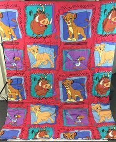 Vintage 90s Disney The Lion King Twin Size Bed Comforter Simba Nala Zazu Puumba