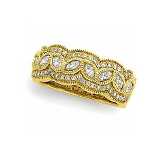 4245a27ec1d 62950   14K Yellow   1 CT TW   Polished   DIAMOND ANNIVERSARY BAND