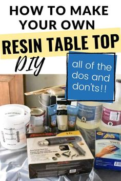 How to make your own Resin Table Top! - Learn How to make your own Resin Table Top with this step=by-step guide full of tips and tricks, al - Diy Resin Table Tops, Epoxy Table Top, Wood Resin Table, Diy Table Top, Epoxy Resin Table, Diy Epoxy, Epoxy Resin Art, Diy Resin Art, Diy Resin Crafts