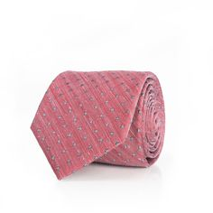 Raw Red Pin Dot Tie