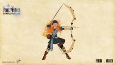 And Merida as the nimble forest ranger. | 12 Disney Princesses Transformed Into Final Fantasy Classes