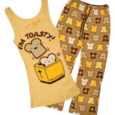 Cuidado no se te quemen las tostadas de este pijama tan divertido.