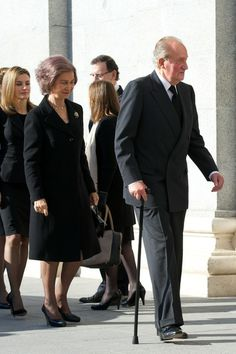 Princess Letizia of Spain, Queen Sofia of Spain and King Juan Carlos of Spain attend the 10th anniversary Mass to pay homage to the victims of the Madrid train bombings at the Almudena Cathedral on March 11, 2014 in Madrid, Spain.
