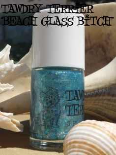"""@TawdryTerrier """"Beach Glass Bitch"""" - 1 bottle available at https://www.etsy.com/shop/TawdryTerrier #nailpolish #indienailpolish #tawdryterrier"""
