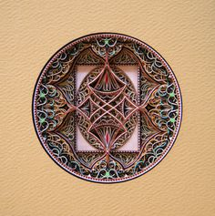 My POAD professor's work...    Artist: Eric Standley  Circle 4.8.1  from Either/Or Drawings  cut paper  8 x 10 in Available