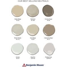 """Home Decor Inspiration on Instagram: """"I get asked a lot about neutral paint colors seen on walls and their names. @benjaminmoore has provided a list of their best selling neutrals. Shaker beige is what I have in most of my rooms. Which one is your favorite?"""""""