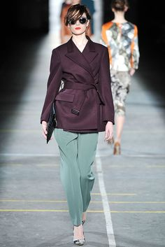// Dries Van Noten A/W '09 - Oh my god. The color of those pants. Beautiful.
