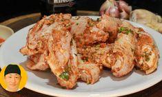 Como temperar tulipa de frango Shrimp, Meat, Chicken, Food, Youtube, Garlic Soup, Deep Frying, Spices, Tulip
