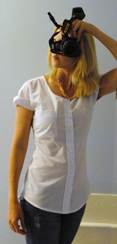 Gingerly Made: Men's Shirt Refashion