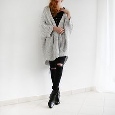 More looks by Reingeschlüpft: http://lb.nu/reingeschluepft  #casual #minimal #minimalism #simplicity #used #cardigan #oversize #cosy