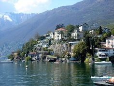 Ascona, Switzerland. My fav place in the world! Right on Lake Lugano---so much smaller and more beautiful than Lake Como. Take the ferry boat over to Italy or 1/2 hr train ride to the snow. Flower-carpeted medians on the few streets that allow cars.