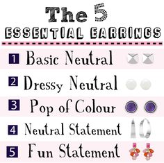 I just got these from Polyvore, Links:Tiffany & Co. white pearl earrings/ Georg jensen purple earrings/ Kate Spade colored statement earrings/ Vince Camuto silver hoop jewelry/Vince Camuto pyramid stud earrings In the last few years or so I've worked out a few formulas to help me pack for a vacation and also to help fill …