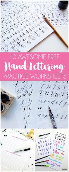 10 Free Hand Lettering Practice Worksheets | by Dawn Nicole | Bloglovin'