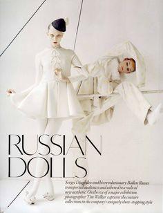 Kloss in 'Russian Dolls' editorial in British Vogue, October 2010. Photo: Tim Walker