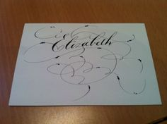 A little bit of flourished copperplate to cheer someone up