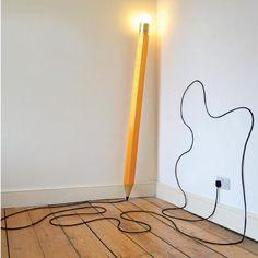 Giant HB pencil lamp