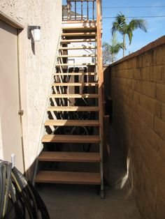 Attrayant Awesome Exterior Stairs In Prefab Domers Wall Lamp Completed