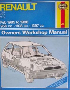 For 92 97 mazda mx6 mx 6 f1 race sports car style racing steering renault 5 1985 1986 workshop manual 1850102198 listing in the renaultcar manuals sciox Image collections