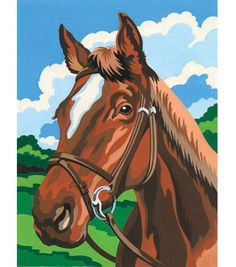 4-1/2''x7'' Mini Paint By Number Kit-Horse 1.99