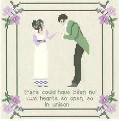 Jane Austen's No Two Hearts Sampler/ by WestWindCrossStitch