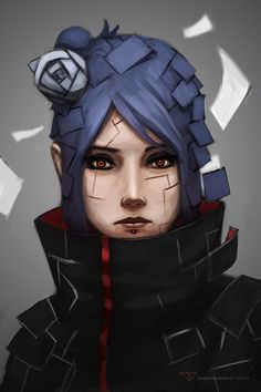 Konan portrait by FranzNacion on DeviantArt