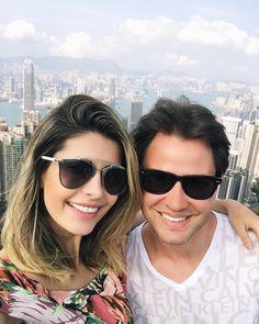 Eu e Ele com o cenário perfeito ao fundo! #Hongkong