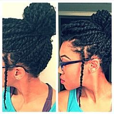 ❤️❤️❤️❤️❤️ this repost by This protective style was done on freshly washed and pre-poo'd hair. My hair was stretched over night prior to twisting my hair up. I hate wearing my hair out at work so I ways have to be innovative when prepping. Cabello Afro Natural, Pelo Natural, Natural Hair Tips, Natural Hair Journey, Natural Hair Styles, My Hairstyle, Afro Hairstyles, Black Hairstyles, Havana Twist Hairstyles