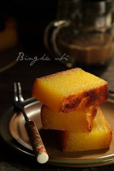 Malaysian Bingka Ubi rapioca cake