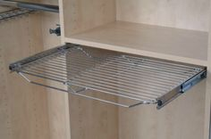 Sliding rack accessories from The Closet Builder.