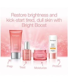 Bright Boost Brightening Gel Moisturizing Face Cream | NEUTROGENA® - Following the success of Hydro Boost products! #Top10FaceCream #FaceCreamForWrinkles Face Brightening, Face Polish, Dark Spots On Skin, Skin Resurfacing, Moisturizer With Spf, Dull Skin, Best Face Products, Beauty Products, Tips Belleza