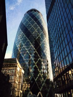 30 St. Mary Axe better known as The Gherkin, London, UK