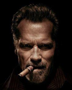 Arnold Schwarzenegger by Photographer Timothy White Celebrity Photography, Celebrity Portraits, Celebrity Photos, Portrait Photography, Arnold Schwarzenegger, Cigar Men, Kim Basinger, Good Cigars, Man Up