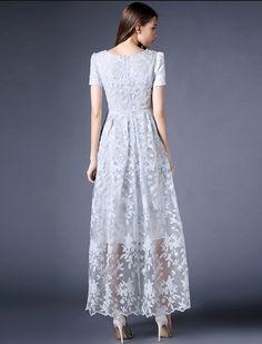 Formal Elegant Retro Long Lace Dress