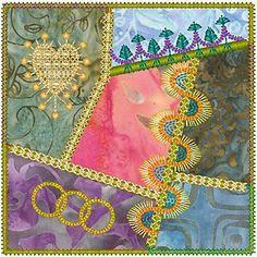 Molly Mine Embroidery Machine Designs | Crazy Quilt Series 1 Pt 1, Molly Mine Embroidery Machine Designs
