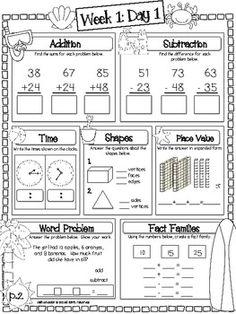 Language Arts Math Summer Fun Packet 2nd Grade