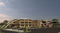 3D renders of upcoming Golf Clubhouse in Tatu City Nairobi. Designed by E.D.G. & Atelier
