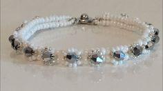 Herringbone  Stitch  Bracelet - Kristalli Herringbone Dikiş Bileklik