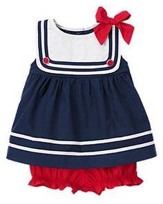 """NWT Gymboree Girl Sailor Two-Piece Set size 3-6 mos.""Sailor Baby Collection"""