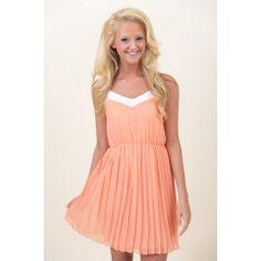 Natural Born Charmer Dress-Peach - $38.00 Red Dress Boutique