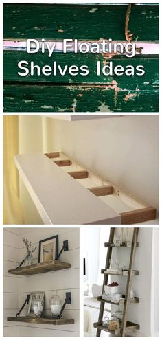 Floating shelves are known to be the most beautiful kind of shelving to store items and display showpieces. Diy Craft Projects, Diy Crafts, Bathroom Decor Signs, Shelf Inspiration, Floating Shelves Diy, Do It Yourself Projects, Clever Diy, Shelving, Innovation