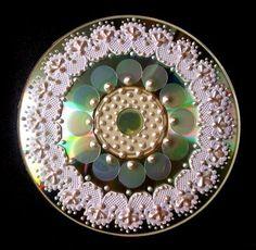Mandala feita com CD.