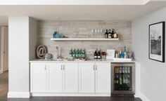 basement bar designs home bar transitional with walk up bar basement contemporary beverage refrigerators Entertainment Center Makeover, Entertainment Center Kitchen, Entertainment Weekly, Layout Design, Diy Design, Design Ideas, Interior Design, Interior Decorating, Basement Decorating