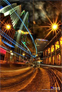 Christmas in Hong Kong. I enjoy light trail photography.this photo is amazing.