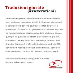 Traduzioni giurate (asseverazioni)