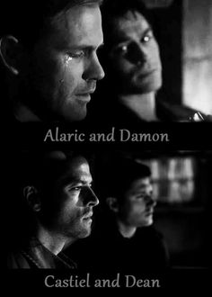 dean winchester damon salvatore | My world, Damon and Alaric|Dean and Castiel